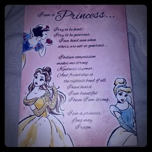 I'm a Princess Disney Princess canvas art 12x16